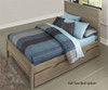Everglades Alex Panel Bed Twin Size with Trundle Driftwood | NE Kids Furniture | NE10020X