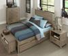 Everglades Alex Panel Bed Full Size with Trundle Driftwood | NE Kids Furniture | NE10025X