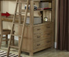 Everglades Loft Bed with Desk Driftwood   NE Kids Furniture   NE10070-Desk