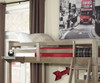 Everglades Loft Bed with Desk Driftwood   26946   NE10070-Desk