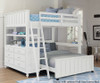 Lakehouse Loft Bed Full White | 26969 | NE1045