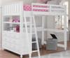 Lakehouse Loft Bed with Desk Full Size White | NE Kids | NE1045-Desk