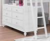 Lakehouse Loft Bed with Desk Full Size White | 26970 | NE1045-Desk