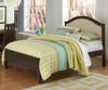 Everglades Bailey Upholstered Bed Full Size Espresso   NE Kids Furniture   NE11015