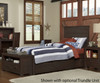 Everglades Alex Panel Bed Twin Size Espresso | 26988 | NE11020