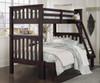 Everglades Harper Twin over Full Size Bunk Bed Espresso   NE Kids Furniture   NE11055