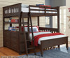Everglades Loft Bed Full Size Espresso | NE Kids Furniture | NE11080