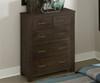 Everglades 5 Drawer Chest Espresso | NE Kids Furniture | NE11520