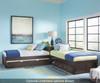 Pulse L-Shape Bed Chocolate | 27080 | NE32051N