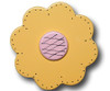 Pastel Yellow Lolli Flower Drawer Pull | One World | OW-DP32563
