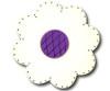 Satin White Lolli Flower Drawer Pull | One World | OW-DP36074