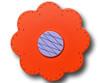 Orange Lolli Flower Drawer Pull | One World | OW-DP44559