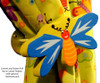 Magenta Lolli Flower Drawer Pull   One World   OW-DP47556