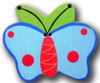 Blue Butterfly Drawer Pull | One World | OW-DP503