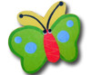 Green Butterfly Drawer Pull | One World | OW-DP504