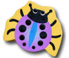 Purple Lady Bug Drawer Pull   One World   OW-DP527