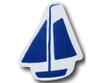 Blue Sail Boat Drawer Pull | One World | OW-DP539