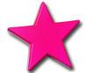 Magenta Star Drawer Pull   One World   OW-DP602