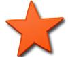 Orange Star Drawer Pull | One World | OW-DP606