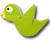 Chix Parakeet Drawer Pull | One World | OW-DP633