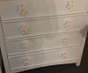 Pastel White Daisy Drawer Pull 3   One World   OW-DP668