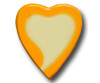 Yellow Water Color Heart Drawer Pull | One World | OW-Heart-YWC