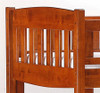 Spice Twin over Futon Bunk Bed Cherry   27353   SPICE-FB-CHR