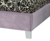 Young Parisian Upholstered Bed Twin Size Lavender | 27363 | ST-6515365154