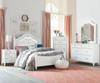 Olivia Upholstered Poster Bed Full Size | 27407 | ST-938529386193863