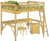 Timber Creek Full Size Loft Bed with Desk Natural   Night and Day Furniture   TCFLOFT-NAT-CL