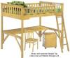 Timber Creek Loft Bed Natural | 27471 | TCLOFT-NAT