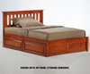 Timber Creek Rosemary Platform Bed Cherry | Night and Day Furniture | TCPB-CHR