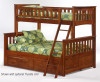 Timber Creek Twin over Full Bunk Bed Cherry | 27479 | TCTFB-CHR