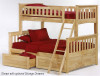 Timber Creek Twin over Full Bunk Bed Natural | Night and Day Furniture | TCTFB-N