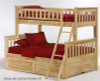 Timber Creek Twin over Full Bunk Bed Natural | 27483 | TCTFB-N