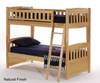 Camaflexi High Loft Bed with Desk Twin Size Cappuccino 1 | Camaflexi Furniture | CF-E612D