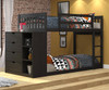 """Wiley Low Bunk Bed with Chest Black-Brown 54""""H"""