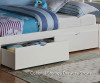 Carolina Twin over Full Bunk Bed White 1   Donco Trading   DT122W-3CL