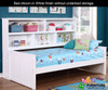 Allen House Bookcase Captains Daybed Full Size White