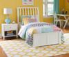 Urbana Sleigh Bed Twin Size White