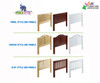 Maxtrix POOF High Bunk Bed with Slide Platform Twin Size Natural