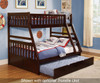 Stanford Twin over Full Bunk Bed Cherry