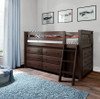Jackpot Low Loft Bed with Two Dressers Espresso