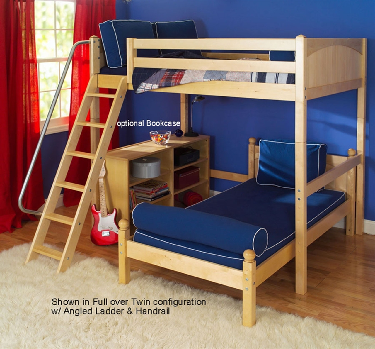 Maxtrix Kids L Shape Loft Bunk Bed Teen Loft Bed In Twin And Full With Lower Bed Maxtrix Childrens Loft Bunk Beds
