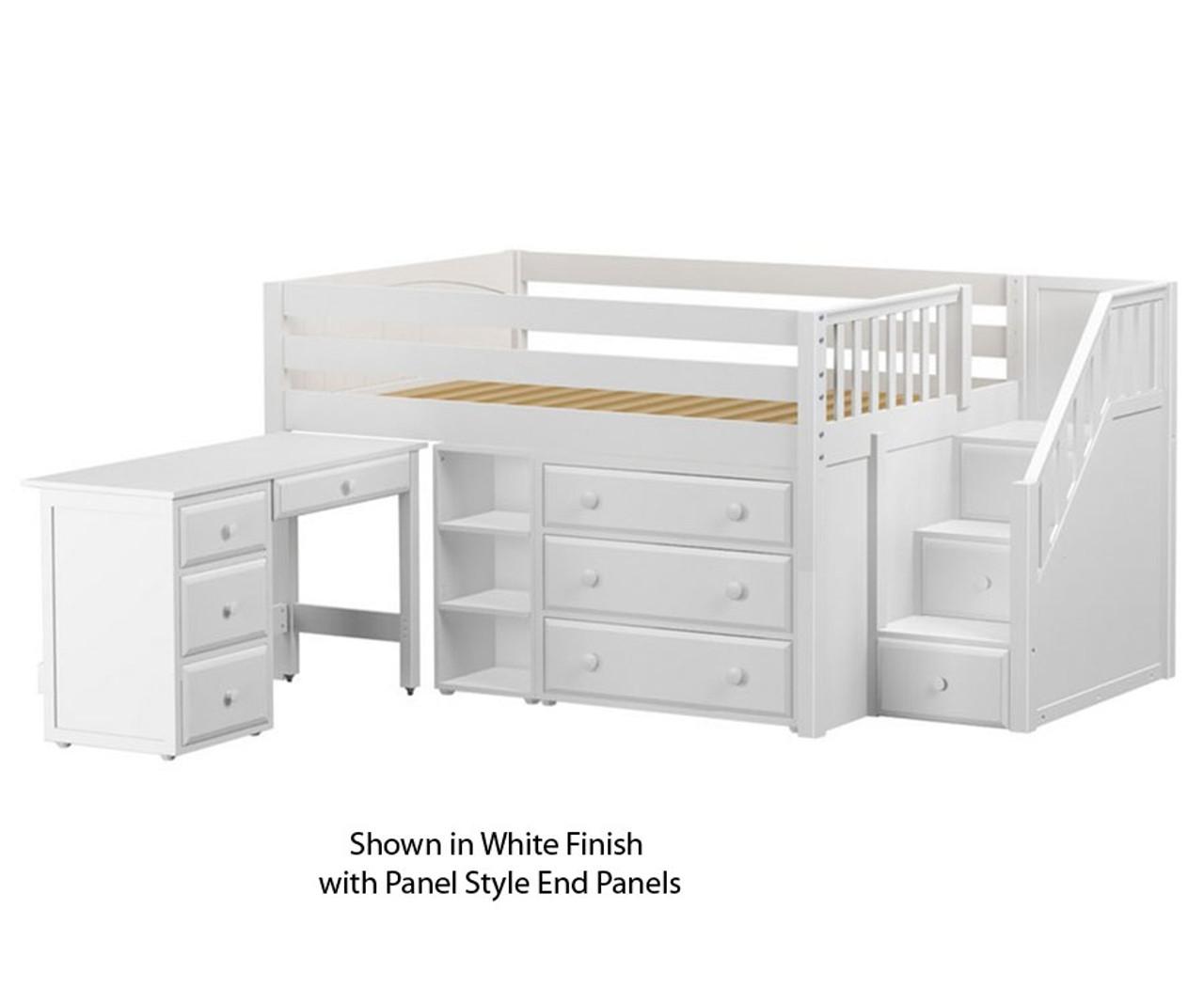 Maxtrix Perfect2l Storage Low Loft Bed W Stairs Desk Kfw