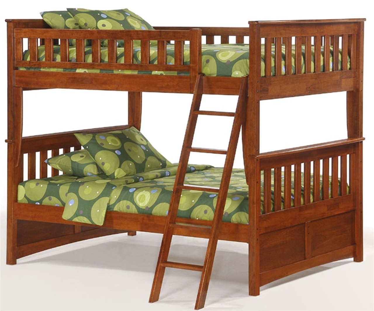 Night And Day Spice Full Over Full Bunk Bed In Cherry Night And Day Spice Furniture Cherry Full Bunkbeds And Spice Double Bunk Beds Solid Wood Spice Full Over Full