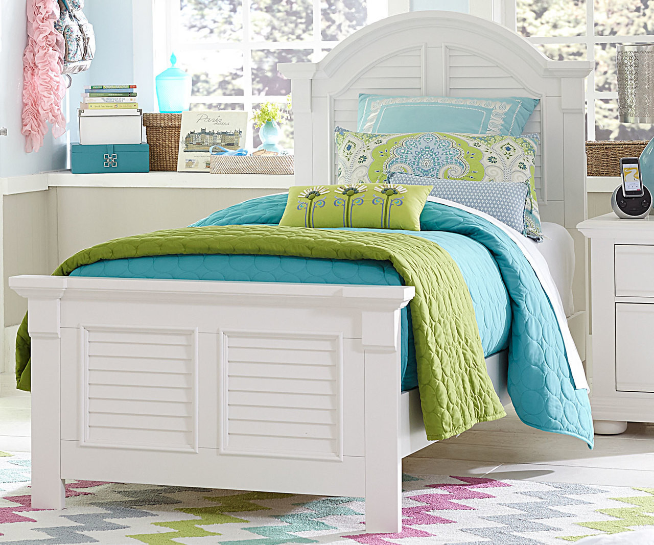 Summer House White Twin Size Panel Bed Lf607 Ybr Tpb Liberty Furniture Boys And Girls Bedroom Furniture