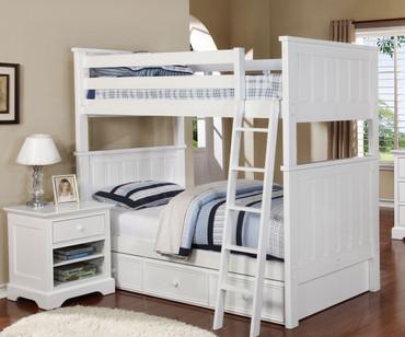 Allen House Brandon Bunk Bed White | Allen House | AH-J-TT-01