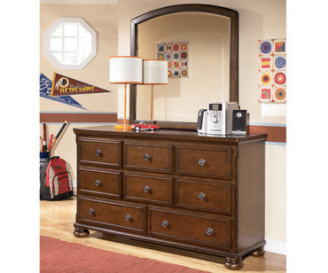 Portsquire Dresser with Mirror | Ashley Furniture | ASB397-2126SD