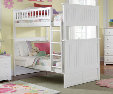 Nantucket Bunk Bed White | Atlantic Furniture | ATL-AB59102